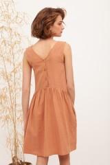 Vestido reversible muselina Brigitte Nude