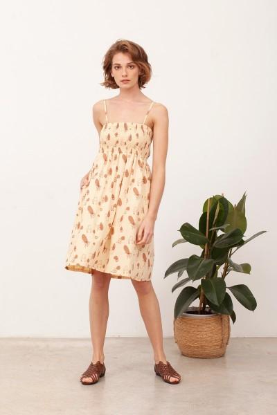 Vestido Nido de Abeja Beth Beige