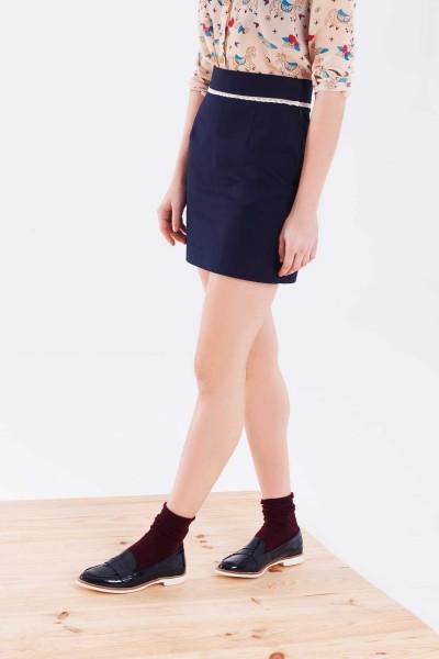 Falda azul marino Gabriela