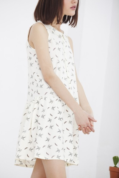 Vestido Heidi pájaros