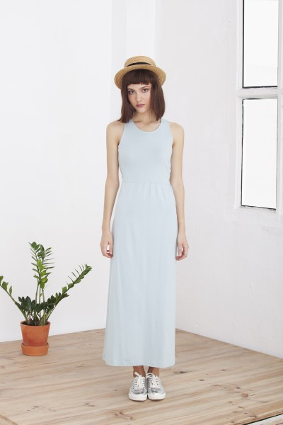 Maxi vestido celeste Hela