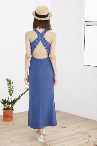 Maxi vestido azul Hela