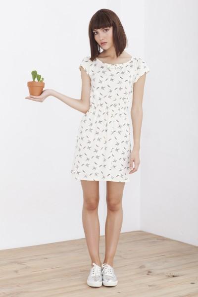 Hila bird printed dress