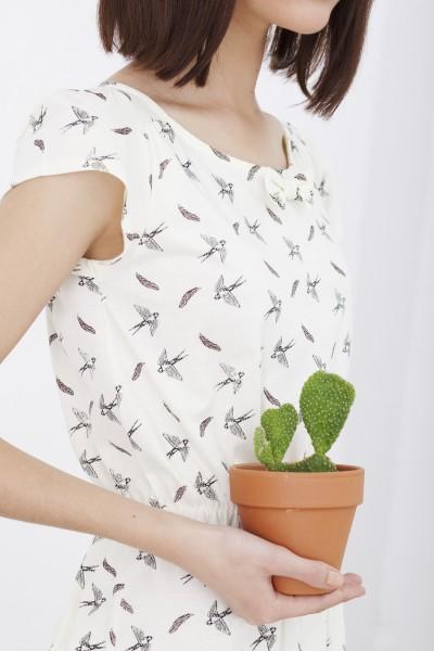 Vestido Hila estampado pájaros