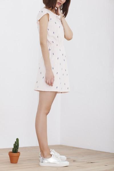 Vestido Hila de manga corta rosa