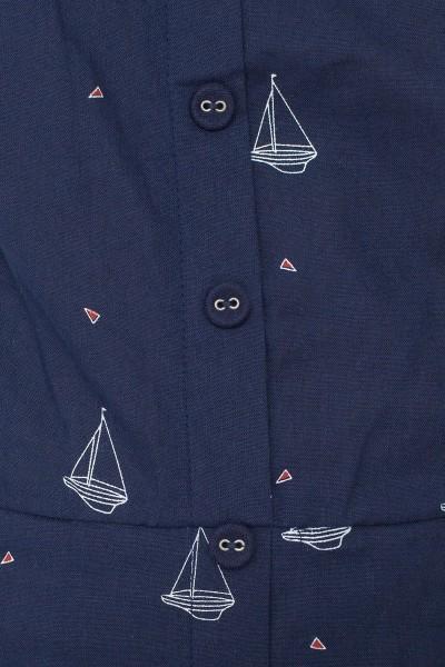 Vestido ecológico Maimi de tirantes con botones decorativos y estampado barcos