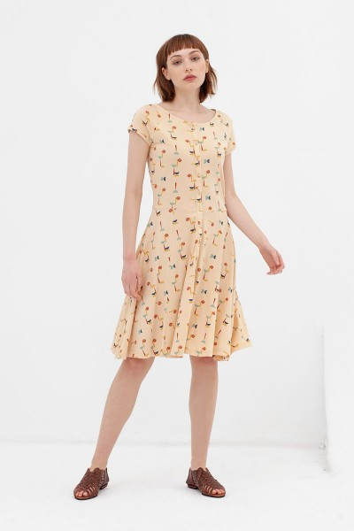Vestido ranglán abstract print Adèle