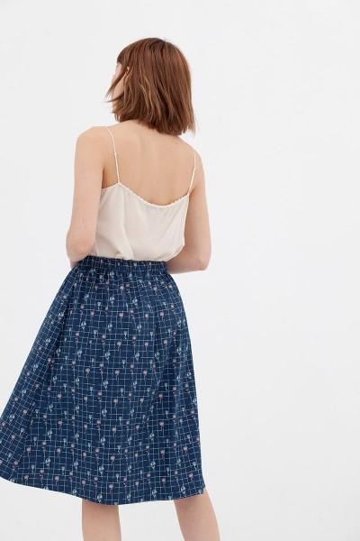 Falda retro azul vintage Adaya