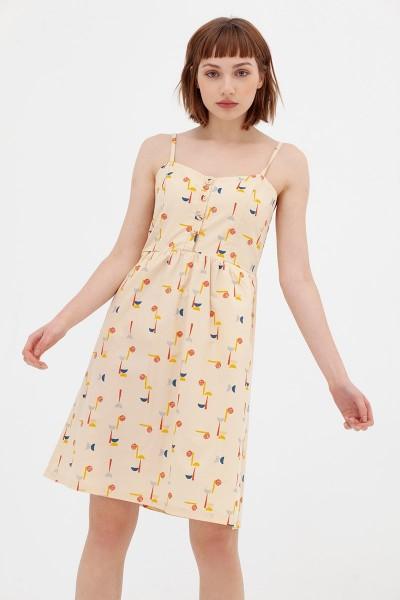 Vestido tapeta abstract print Ainara