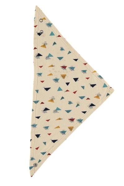 Babero estampado  triángulos