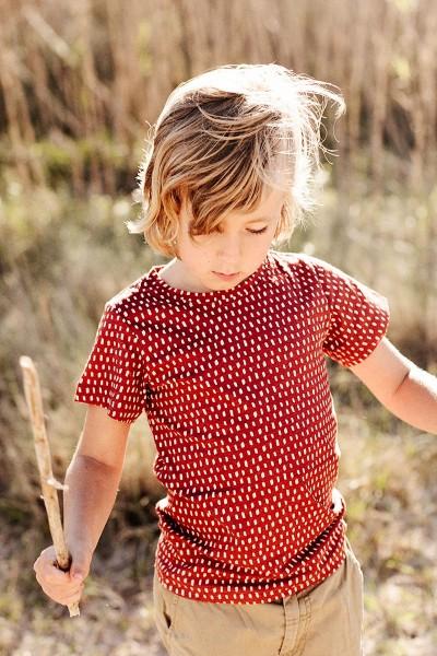 Camiseta unisex color  teja