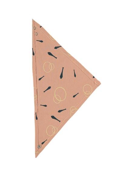 Babero reversible rosa palo estampado