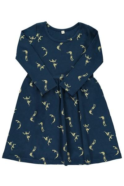 """Vestido """"classic""""azul marino estampado acróbatas"""