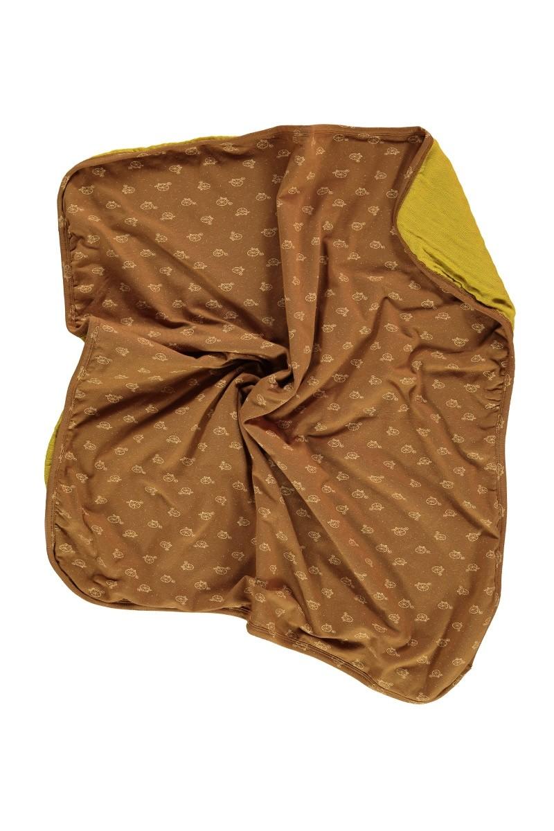 Manta reversible bebé marrón