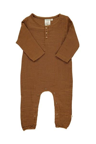 Mono bebé muselina basic marrón