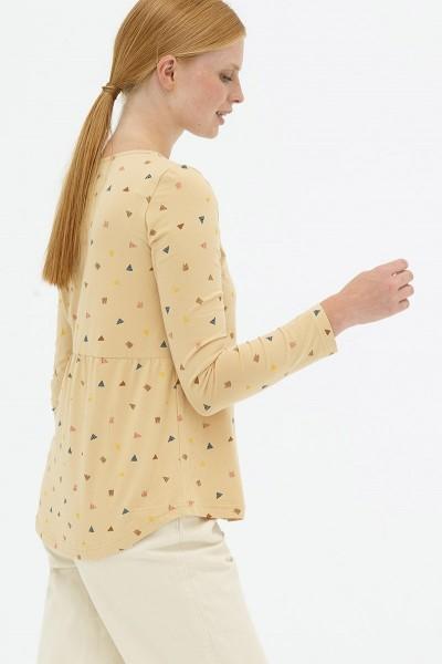 Blusa botones baige Delia reversible