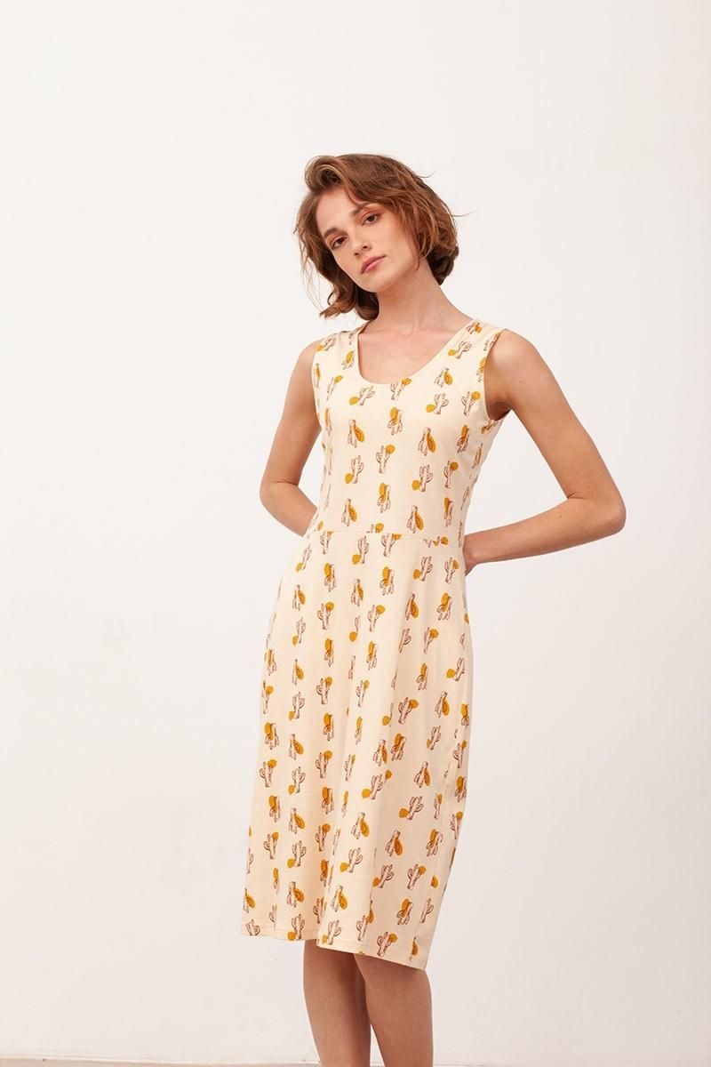 Vestido escote espalda Bianca color beige