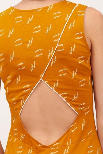Vestido escote espalda Bianca Mostaza