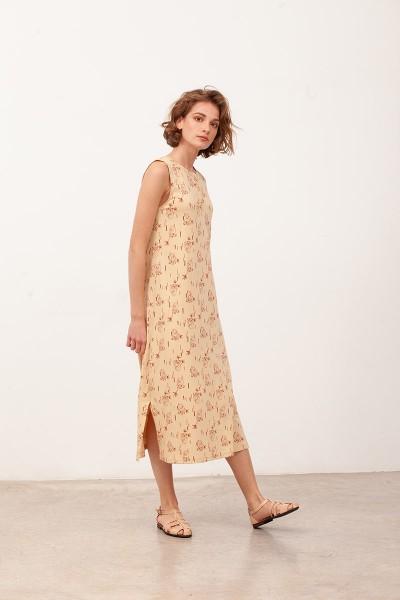 Vestido largo Berta Beige