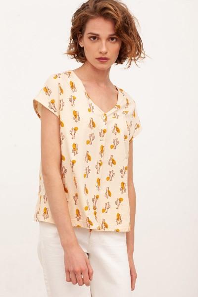 Camiseta ancha Brenda Beige