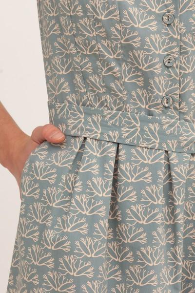 Vestido manga corta Belma Azul