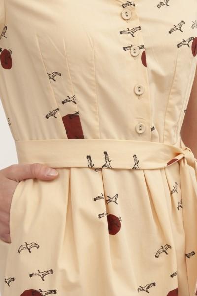 Vestido manga corta Belma Beige