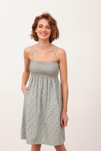 Vestido Nido de Abeja Beth Azul