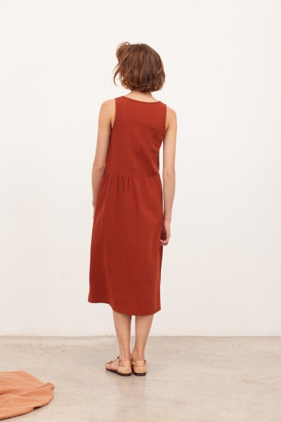 Vestido largo muselina Brooke Teja