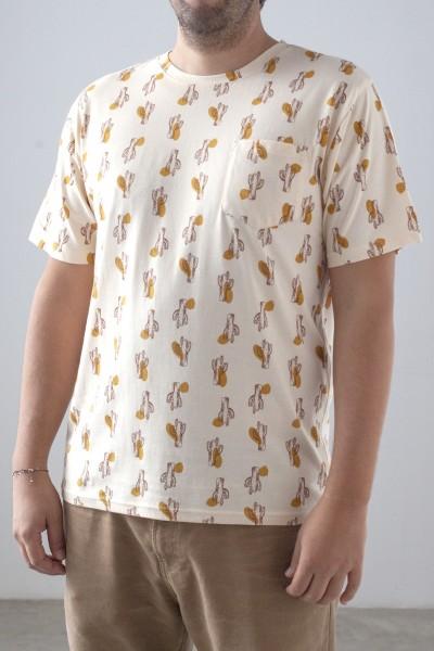 Camiseta Hombre Billie Beige