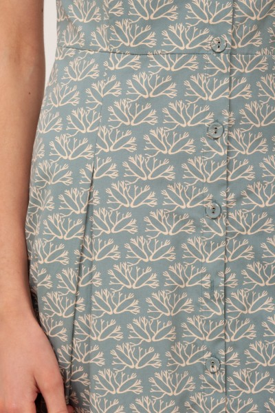 Vestido Tirantes con botones Betsy Azul