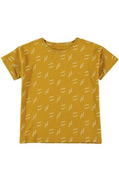 Camiseta manga corta unisex Mostaza
