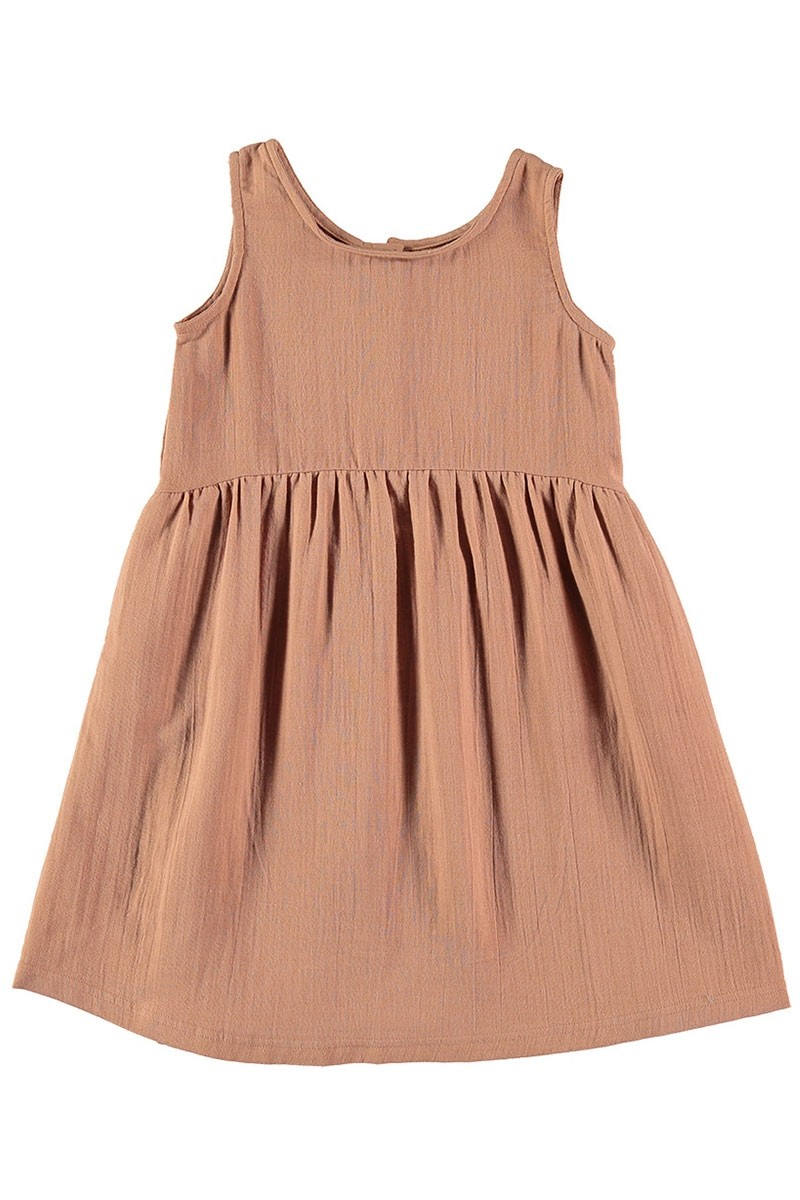 Vestido muselina reversible Nude
