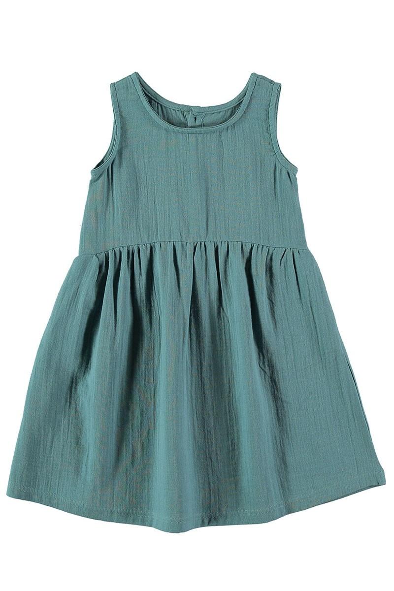 Vestido muselina reversible Azul