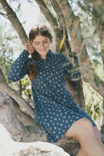 Scarlette shirt dress in blue