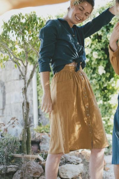 Samara skirt in mustard