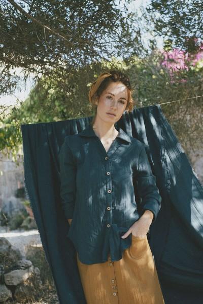 Sylvie oversize shirt in blue