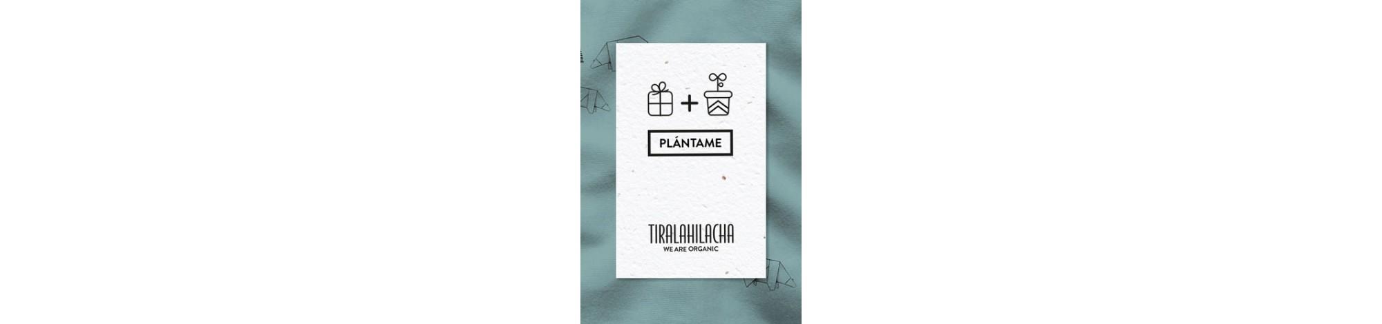 Tarjeta regalo de usar y plantar